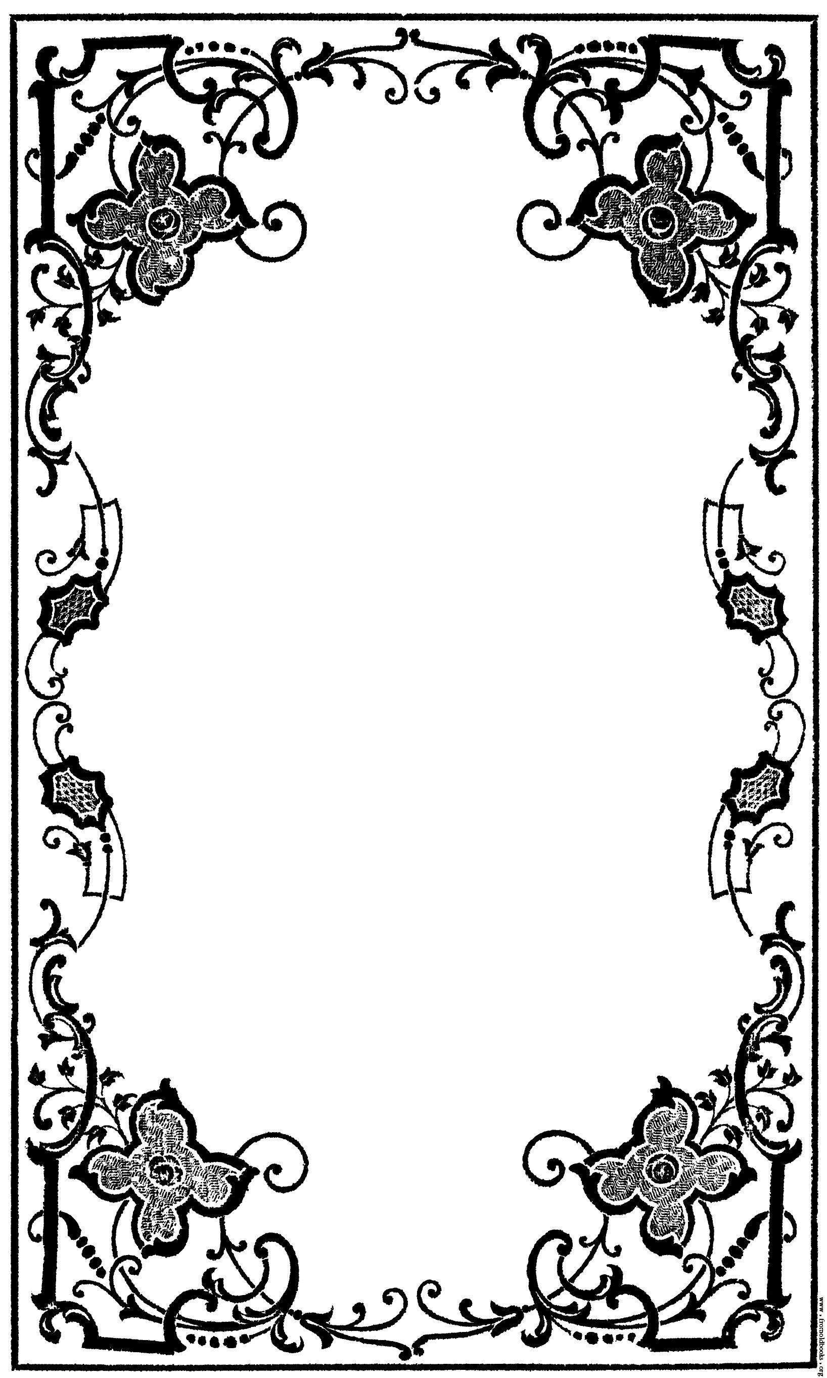 victorian book decoration google search molduras in 2018 rh pinterest com Royal Corner Borders Clip Art Fancy Borders Clip Art