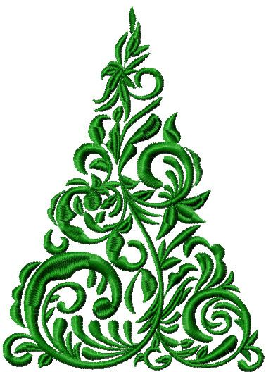 Christmas Tree Free Embroidery Design 2 Christmas Free Embroidery
