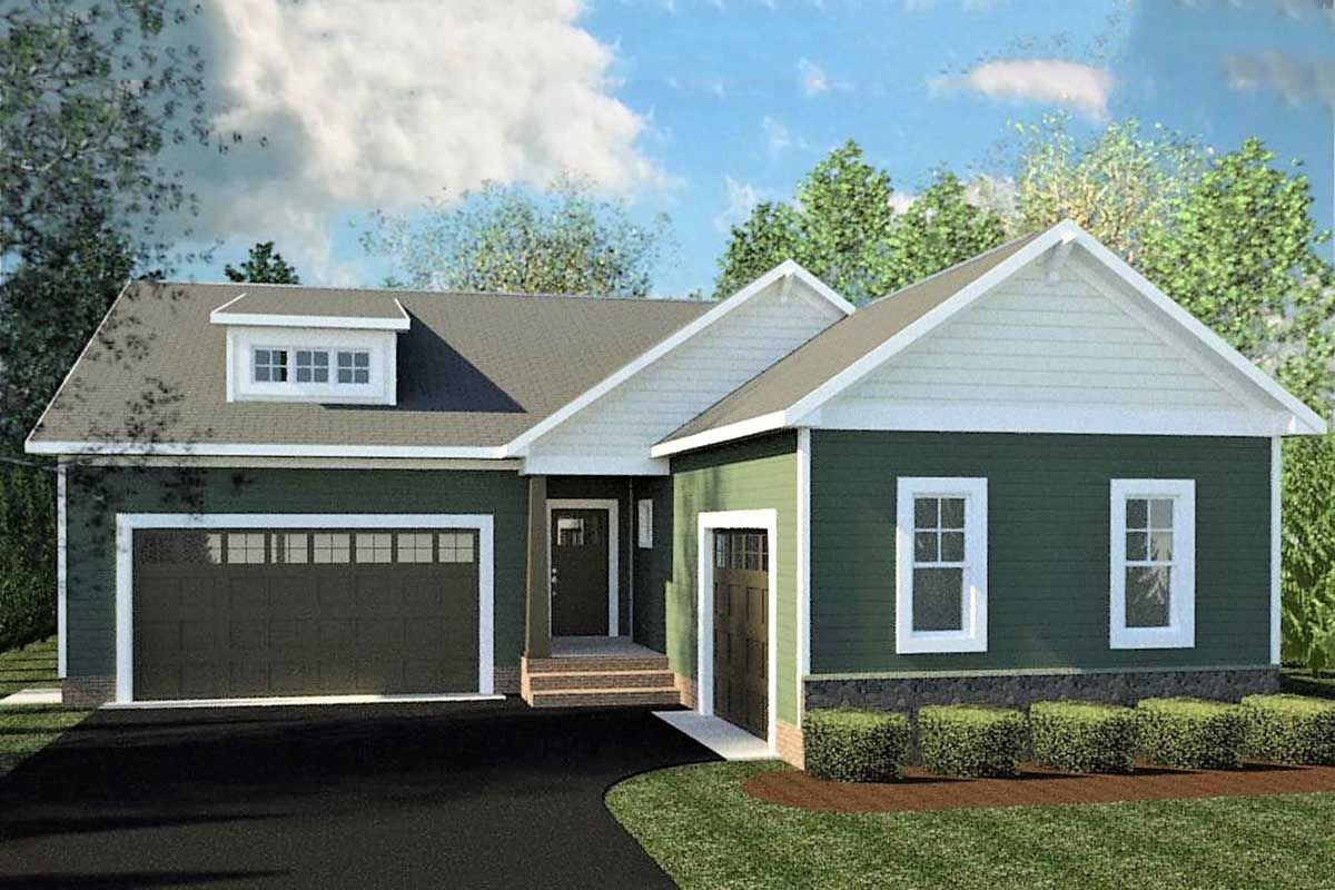 Plan 83601CRW 3Bedroom Traditional Ranch Home Plan with