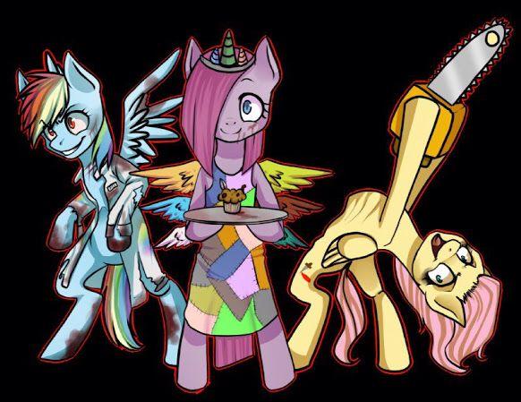Rainbow Factory Pinkamena And Butchershy Mlp Creepypasta Mlp My Little Pony My Little Pony