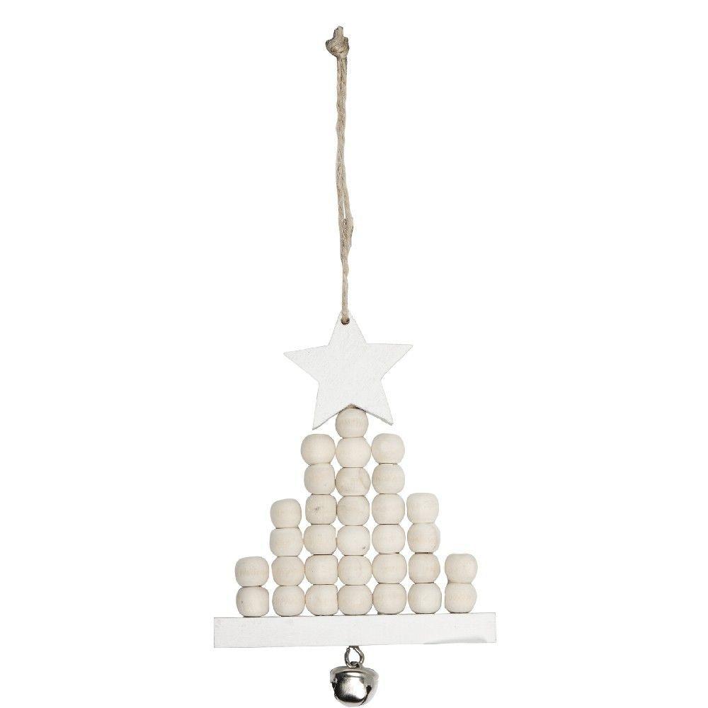 Sapin De Noel A Suspendre Blanc Et Dore Deco Noel Sapin Decoration Noel Et Deco Noel