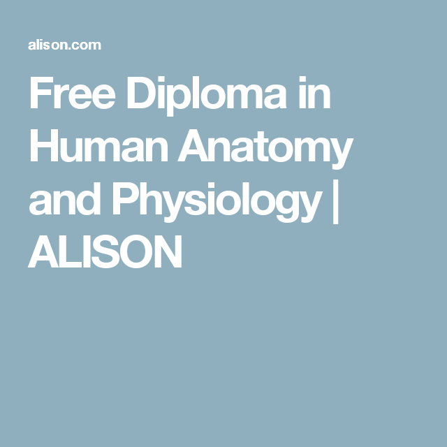Free Diploma in Human Anatomy and Physiology | ALISON | Online ...