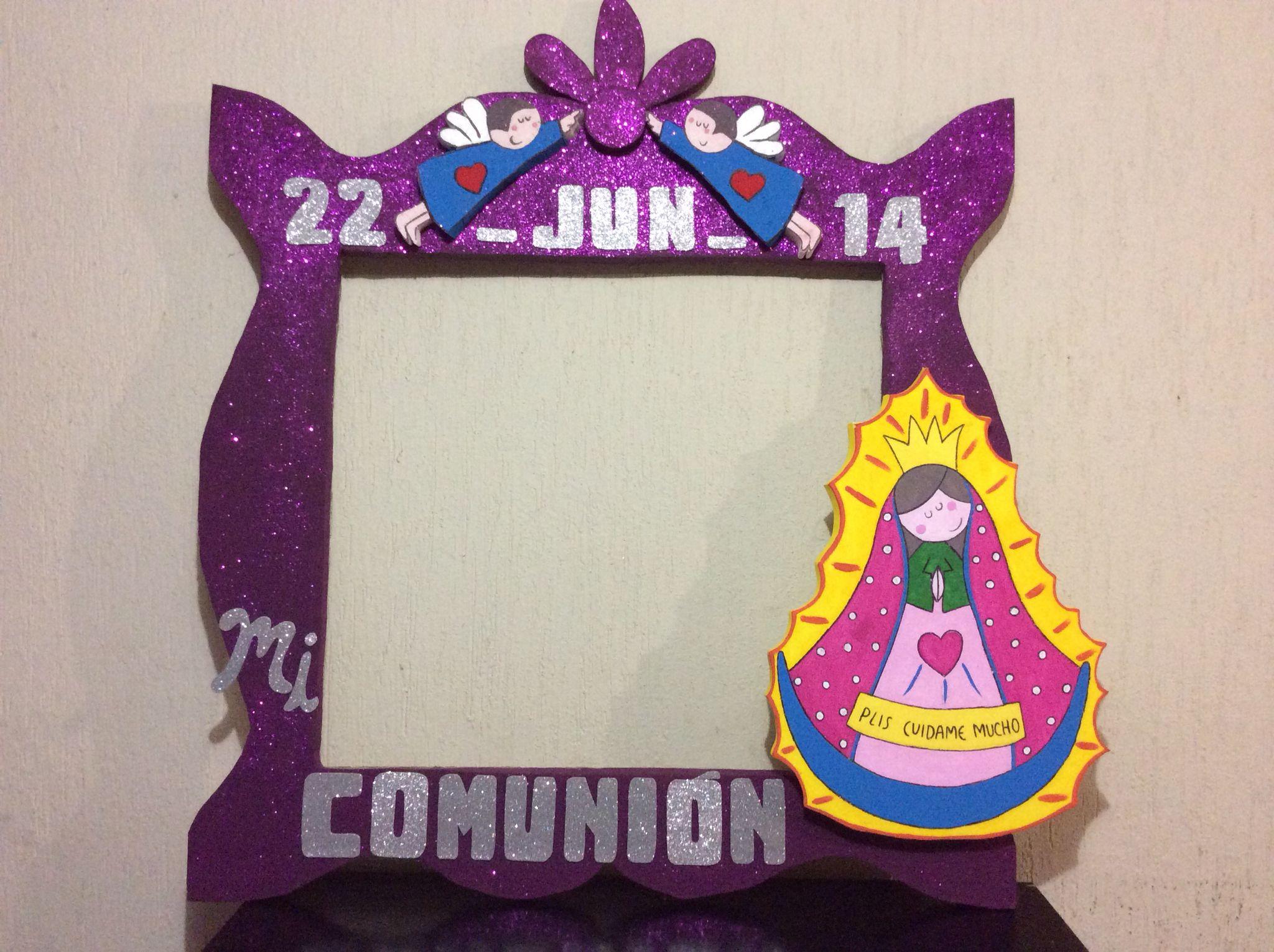 Marco de Primera comunión niña   cuadros de fiesta   Pinterest ...