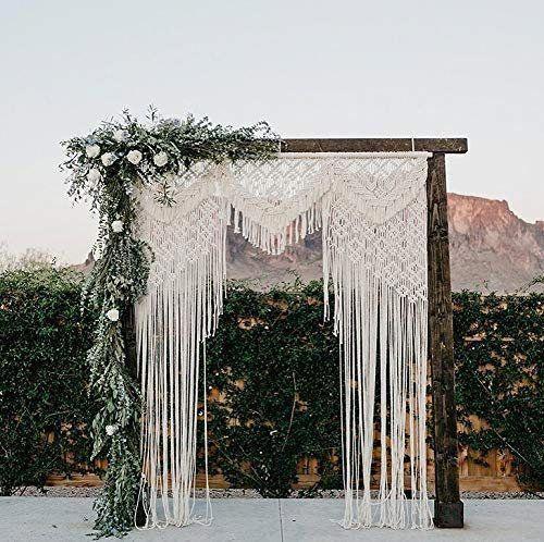 Unique Gift Macrame Wall Hanging-Macrame Headboard-Handmade | Etsy -   18 diy Wedding alter ideas
