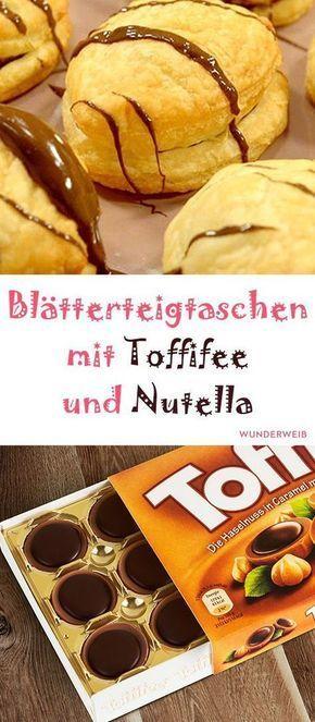 Blätterteigtaschen mit Toffifee und Nutella | Wunderweib #nutellakekse