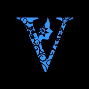 Flower Clipart Blue Alphabet V With Black Background Download Free Flower Clipart Designs Gallery Web Arts Flower Clipart Free Flower Clipart Clip Art