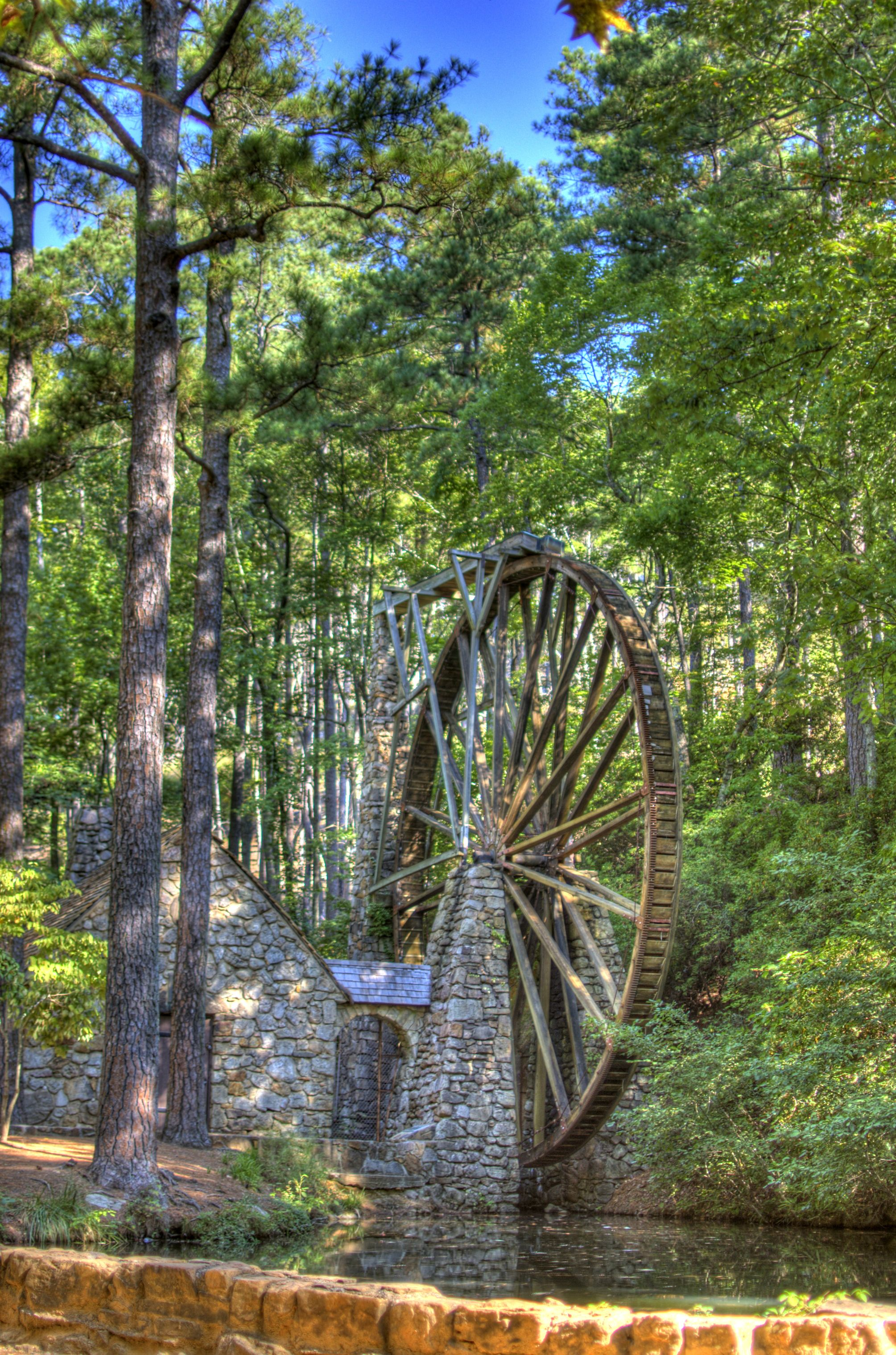 constructed in 1930 the old mill boasts an iron hub which had originally been of service at hermitage an early manufacturing communi hermitage aerial bauxite pinterest