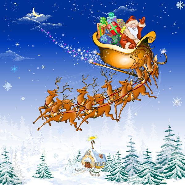 Santa Claus On Sleigh Wallpapers And Reindeer Christmas Coloring Page Christmas Coloring Pages Christian Coloring Reindeer Drawing