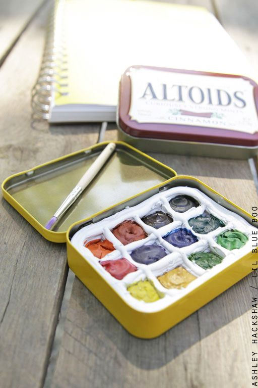 Diy Portable Watercolor Palette Watercolor Kit Watercolor