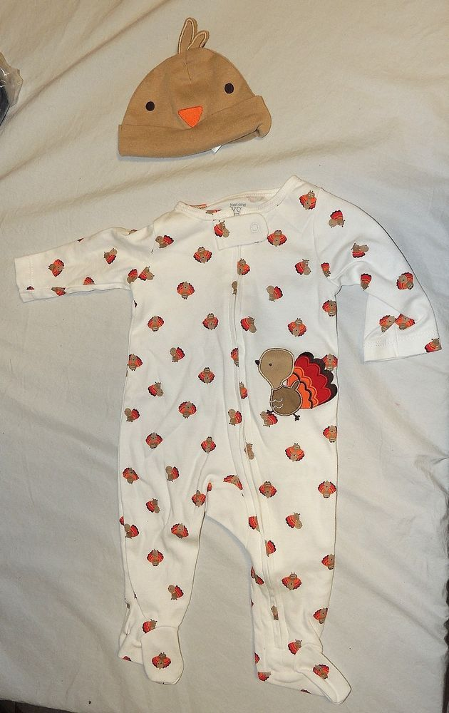 Carter/'s Baby Gobble Til You Wobble Jumpsuit Collectible Bodysuit 3 6 month