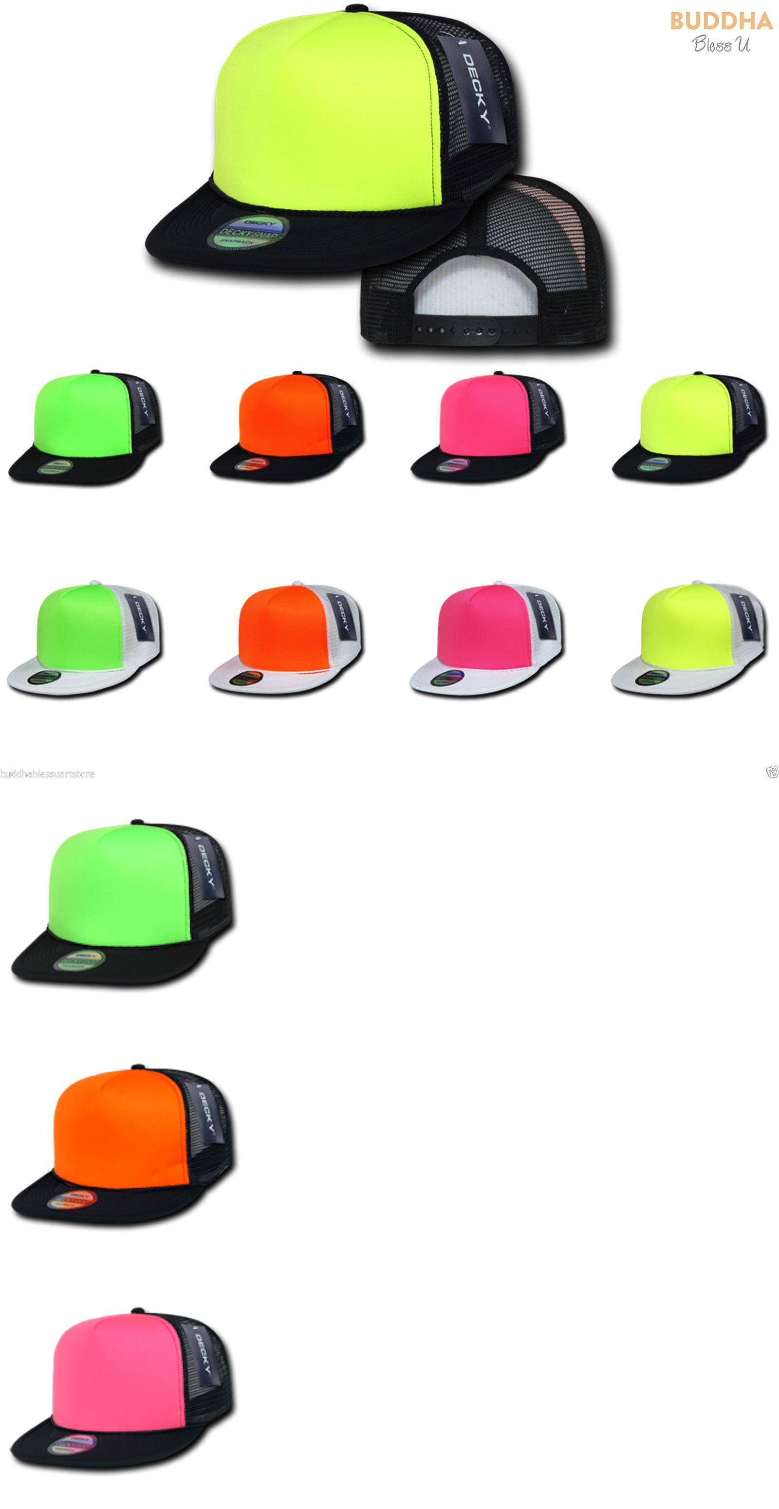 b67c9477d78 Mens Accessories 45053  15 Lot Decky Foam Mesh Flat Bill Neon Trucker Hats  Hat Cap Two Tone Wholesale -  BUY IT NOW ONLY   62.49 on eBay!