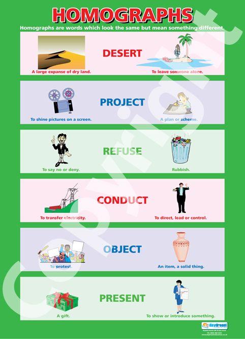 Homograph Chart Homographs Education Poster Fun Learning Homographs worksheets