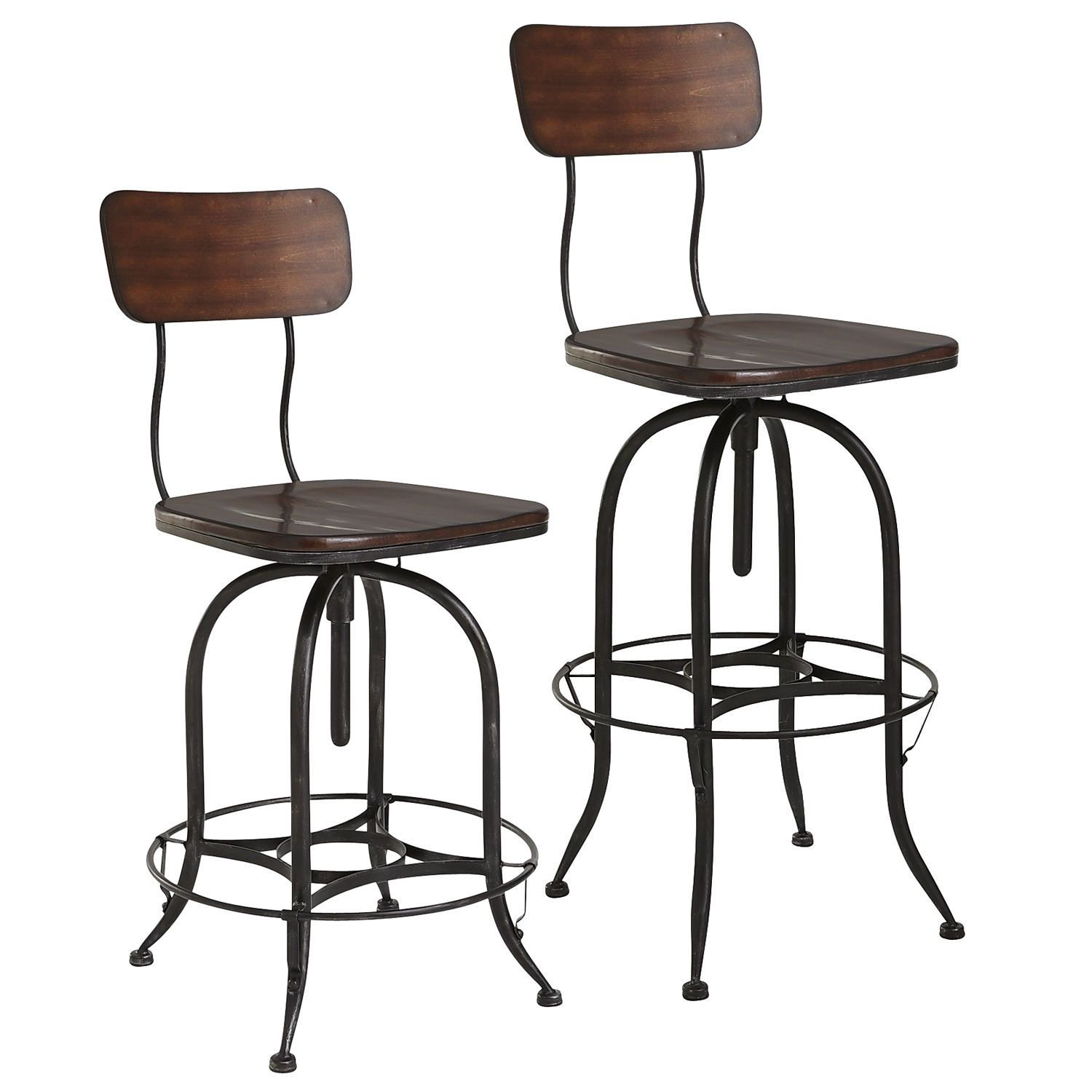 Stanford Swivel Bar & Counter Stools Wood