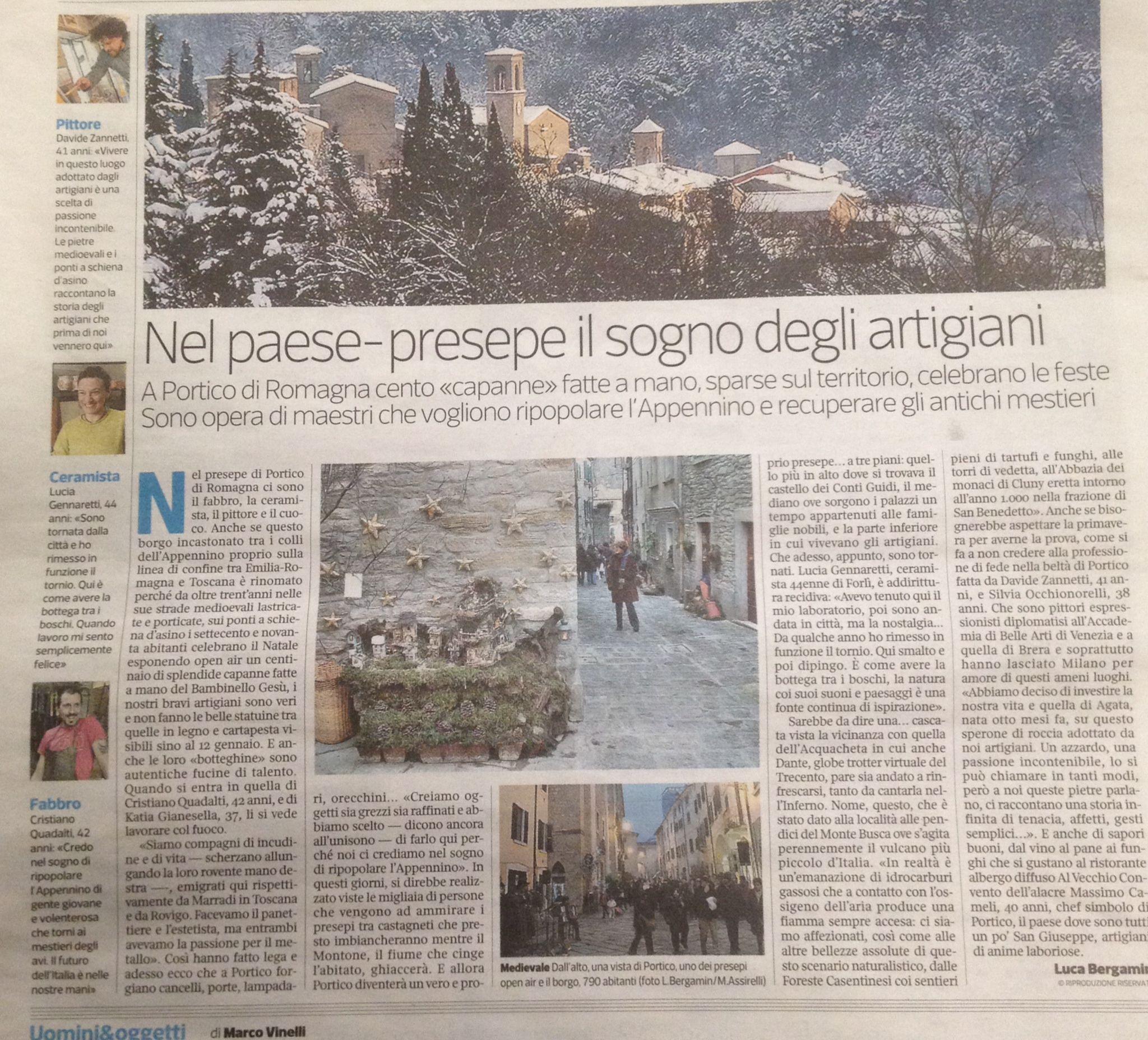 Un bel servizio su Portico sul Corriere della Sera pagina Nazionale!