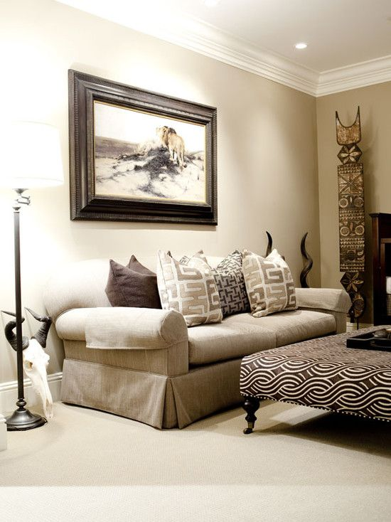 Living Room African Safari Decor Design Ideas, Pictures, Remodel ...