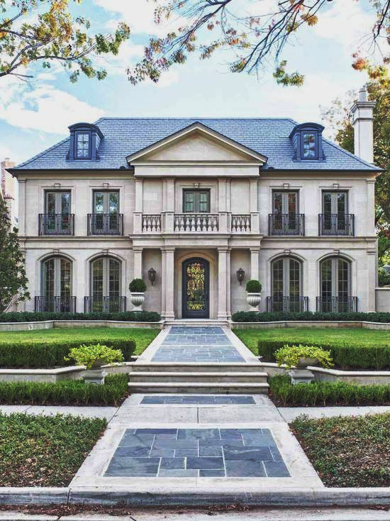 Classically Designed French Manor House Wav House Styles House Exterior Traditional Exterior