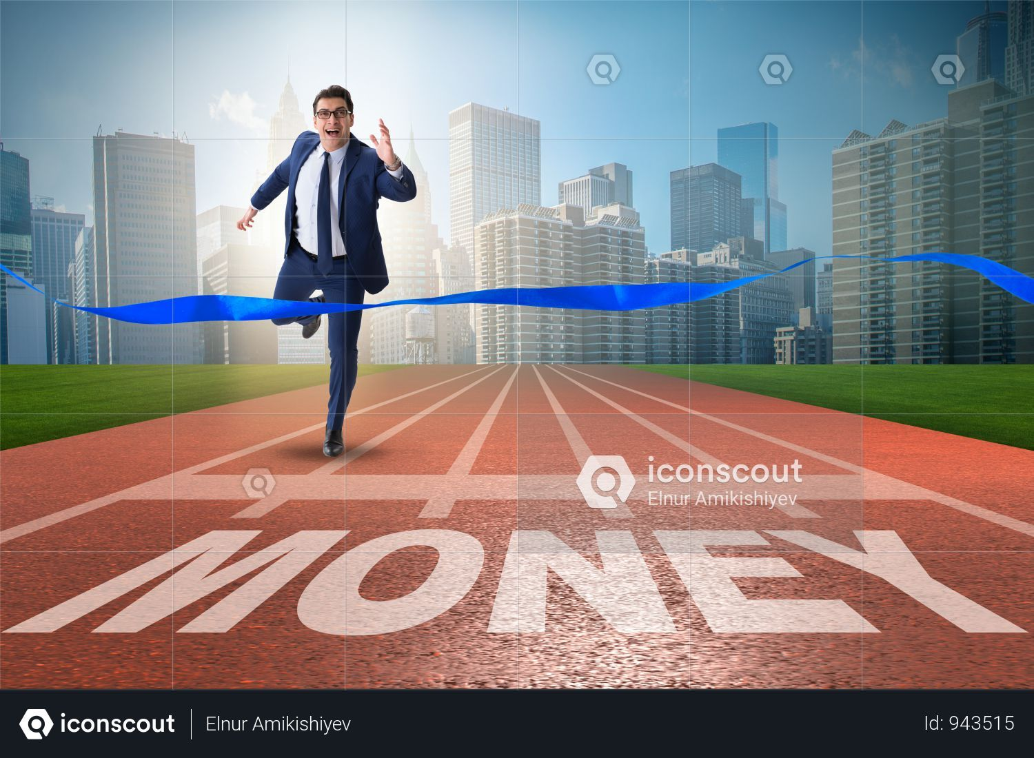 Premium Businessman Running Towards Money On Track Photo Download In Png Jpg Format Business Man Business Photos Running