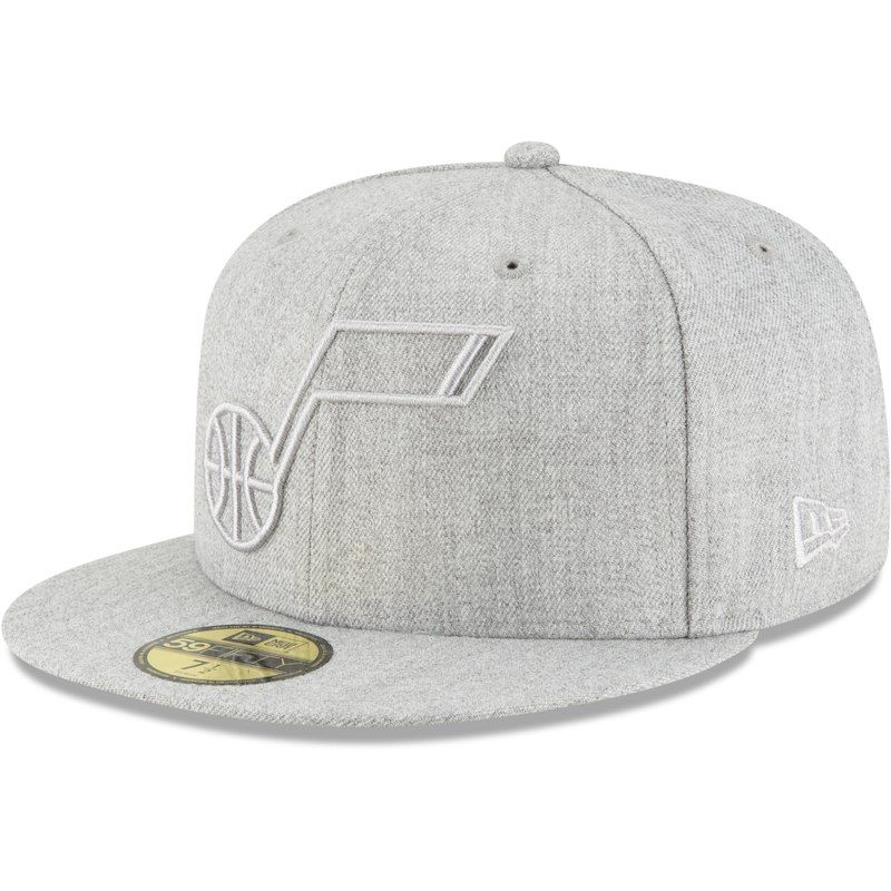 super popular 229b1 c11c2 Utah Jazz New Era Twisted Frame 59FIFTY Fitted Hat - Gray