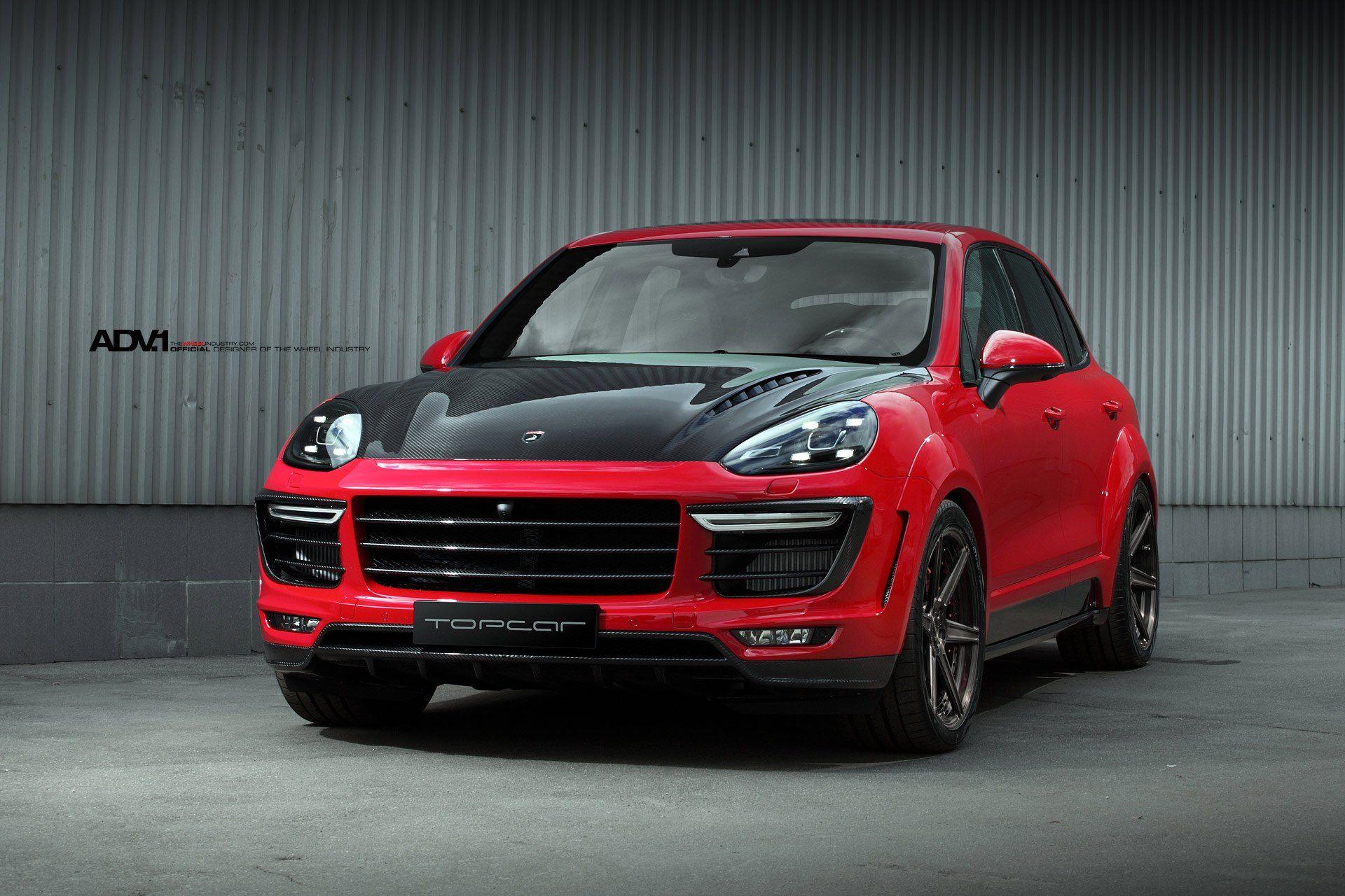 Topcar Gives Red Porsche Cayenne Unforgettable Look With Carbon Fiber Hood Porsche Porsche Cayenne Porsche Wheels
