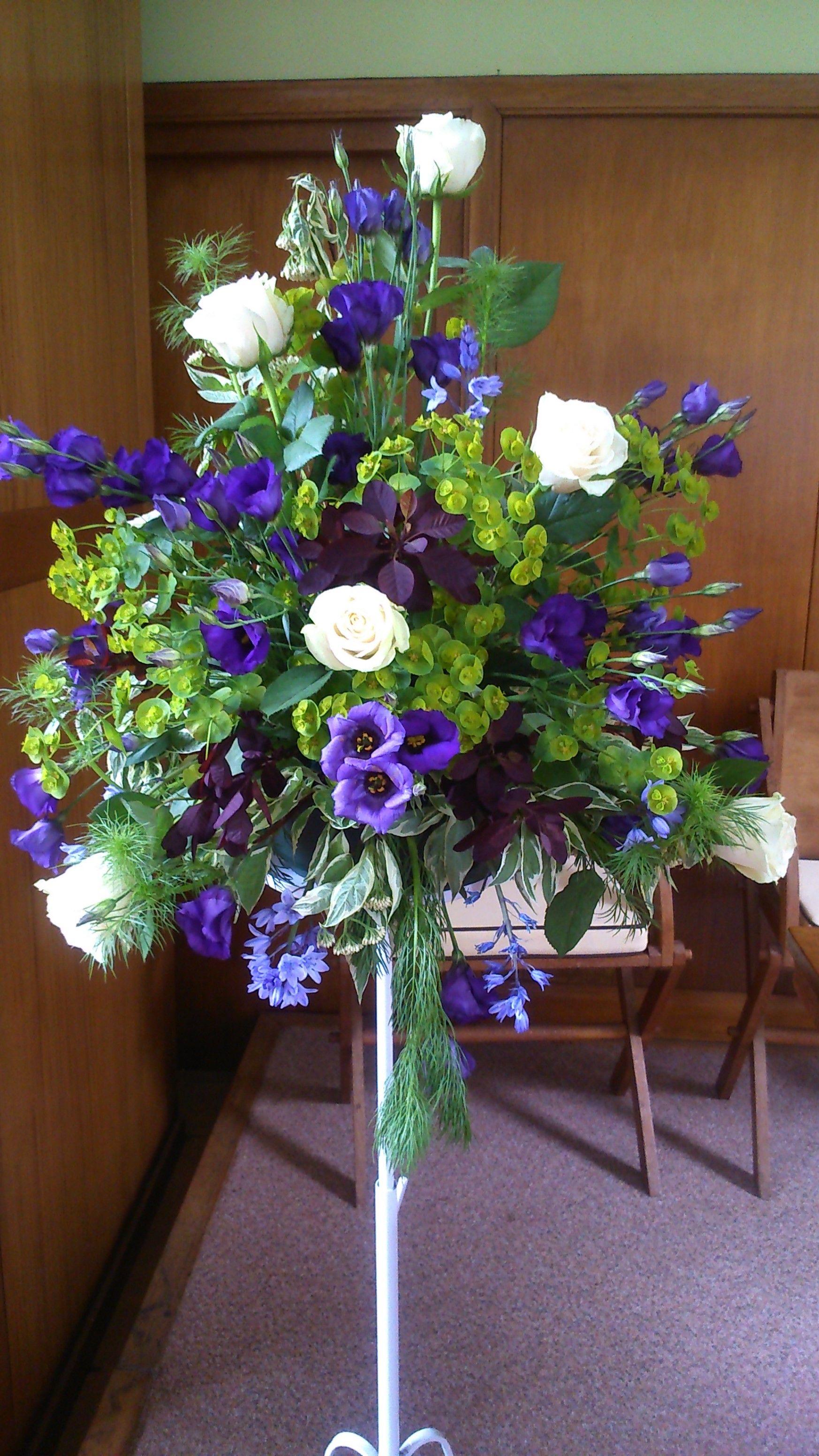 Purple / Violet / Grape / Lavender colored Wedding flowers