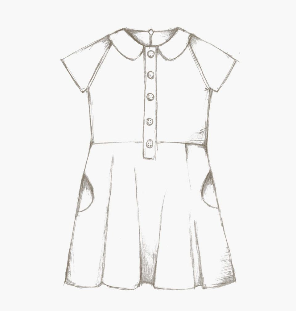 The Ileana Dress (children) pdf sewing pattern