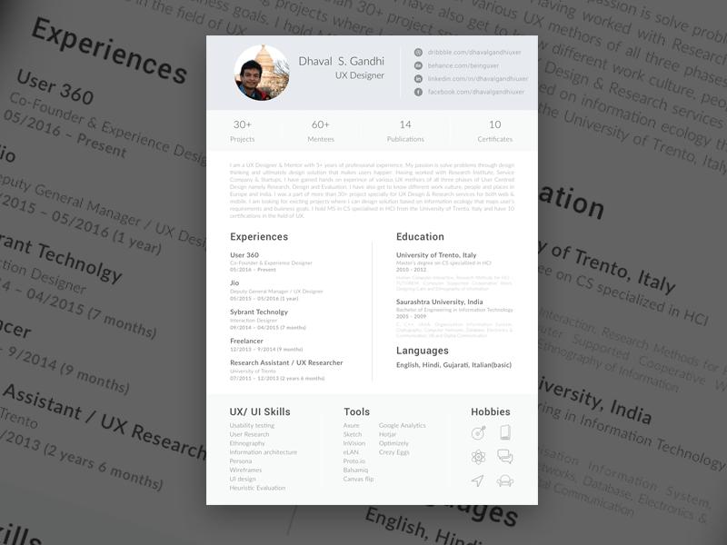 Single Page Resume Sketch Freebie Resume Template Resume Design Template Best Resume Template