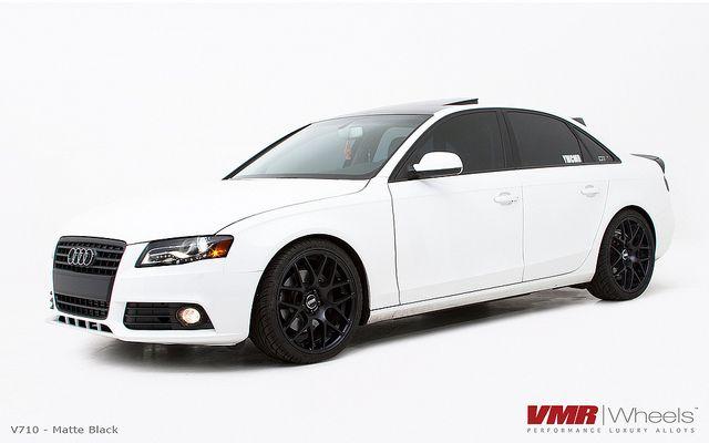 Vmr Wheels 19 Matte Black V710 On B8 Audi Ibis White A4 Audi Audi A4 Audi A4 B7
