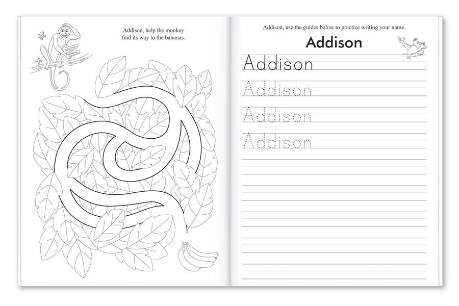My Very Own Name Personalized Coloring and Activity Book
