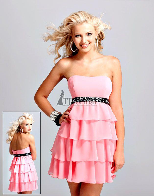 Short Formal Dresses | short pink junior prom dresses, formal prom ...