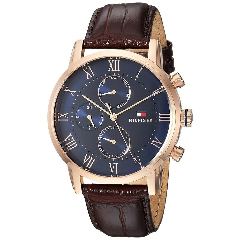 670b238d98e Tommy Hilfiger Leather Chronograph Mens Watch 1791399