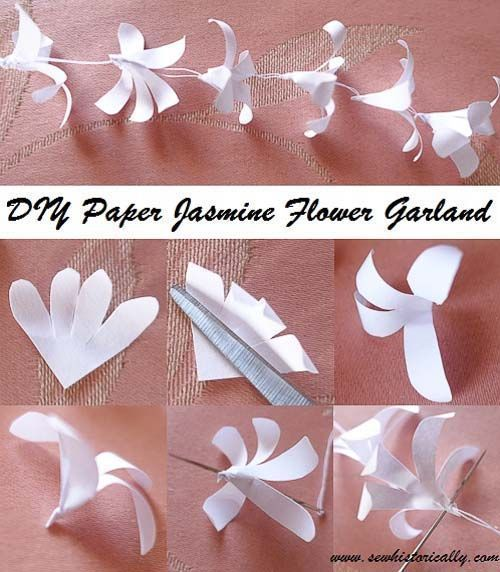 Photo of DIY Indian Paper Jasmine Flower Garland – Instructions #instructions #flower garland …