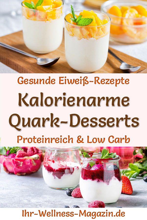 Eiweiß-Quark-Desserts - kalorienarme Protein-Rezepte für Nachtisch #einfachernachtisch