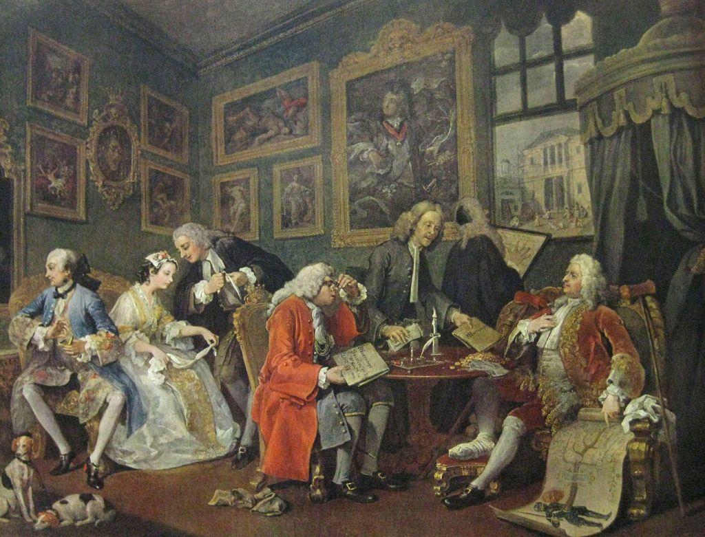 Marriage A La Mode Prima Parte Dipinto Nel 1744 Da William