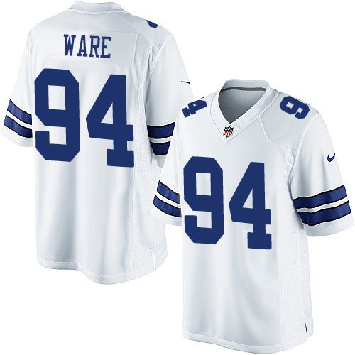 super popular 53346 83cd2 nike dallas cowboys 94 demarcus ware white game womens jersey