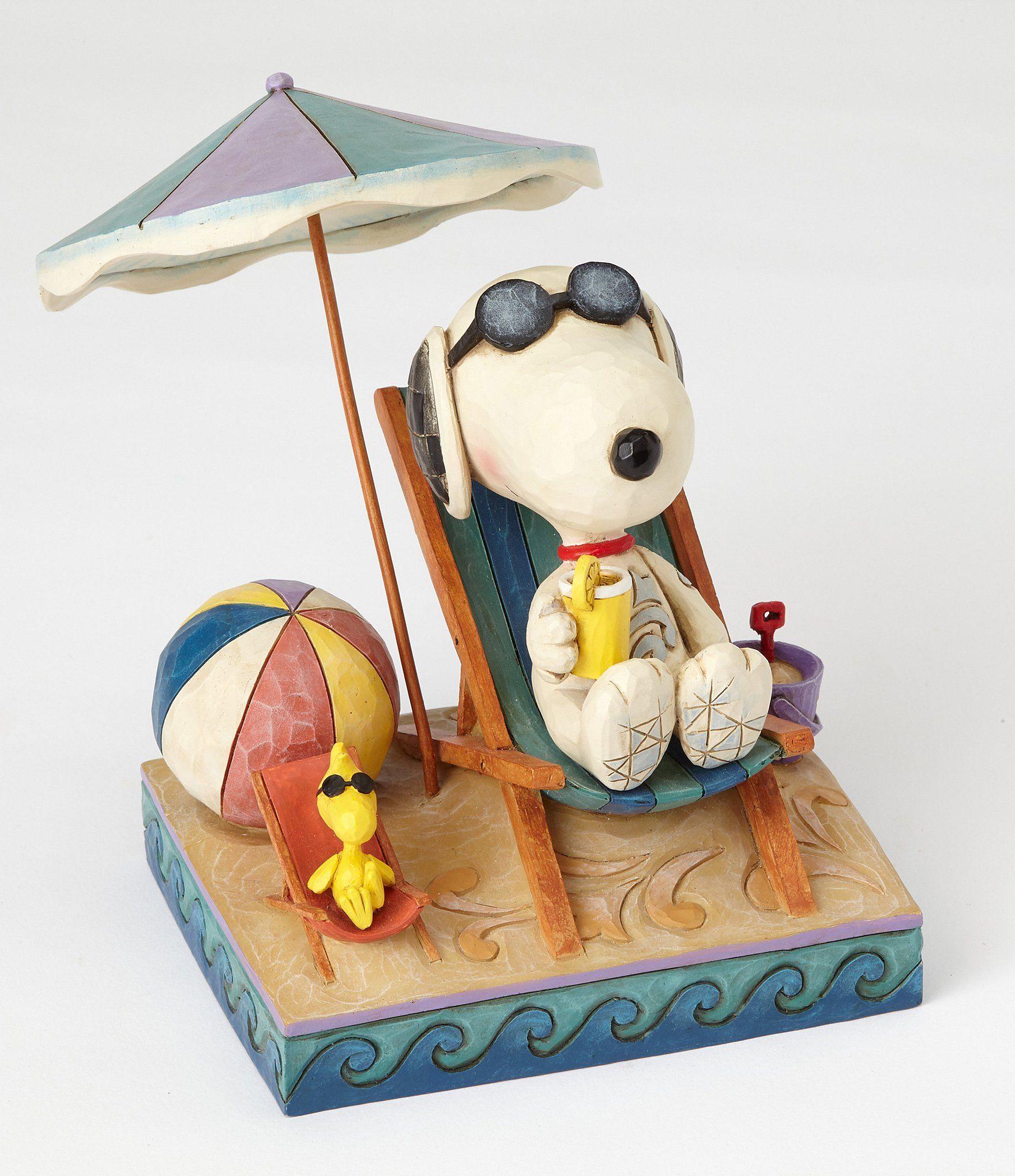 "Jim Shore PEANUTS ~ Beach Buddies Figurine SNOOPY /& WOODSTOCK ~ New In Box ~ 5"""