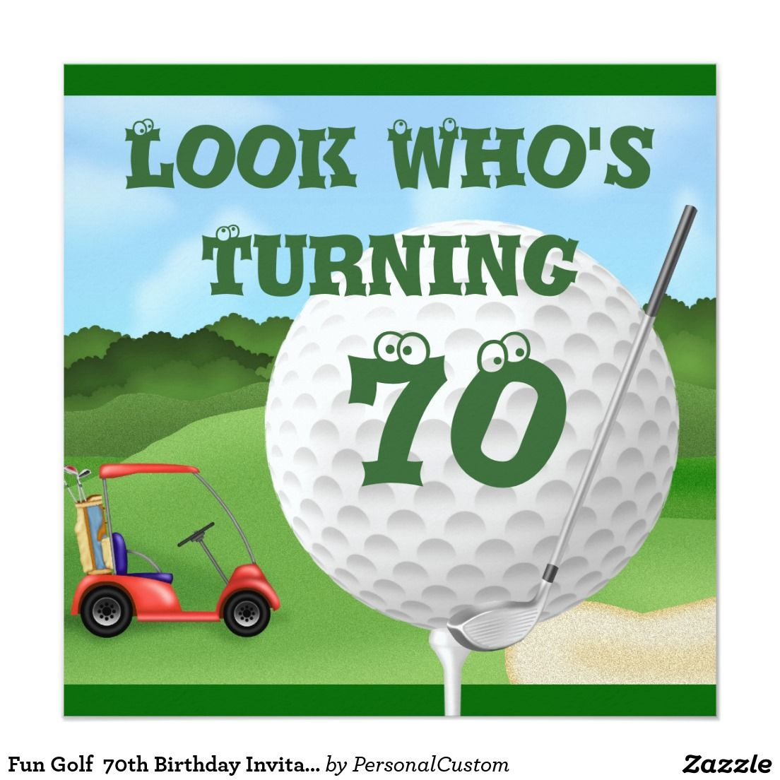 Pretty Reminder Birthday Invitation Images Gallery: Fun Golf 70th ...
