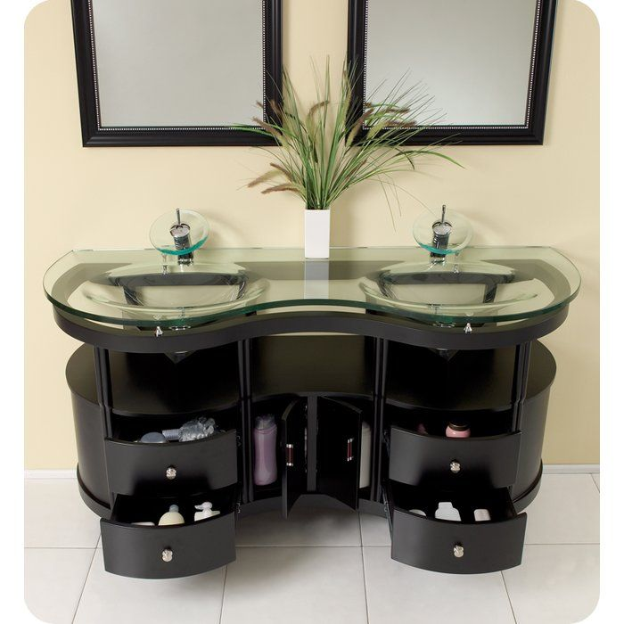 Best Classico 63 Double Unico Modern Bathroom Vanity Set With 400 x 300