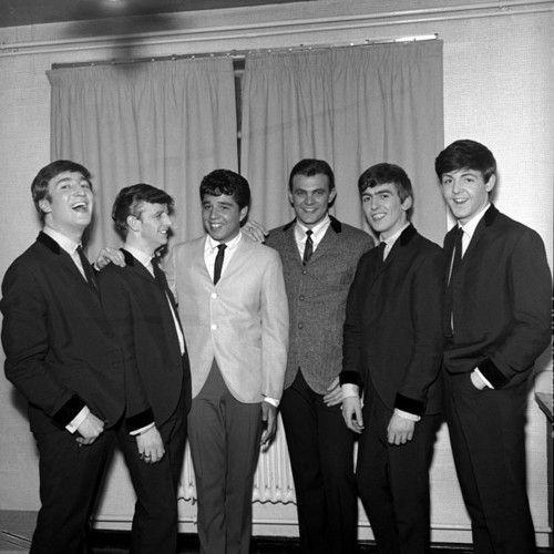 John Lennon, Richard Starkey, ?????, ?????, George Harrison, and Paul McCartney