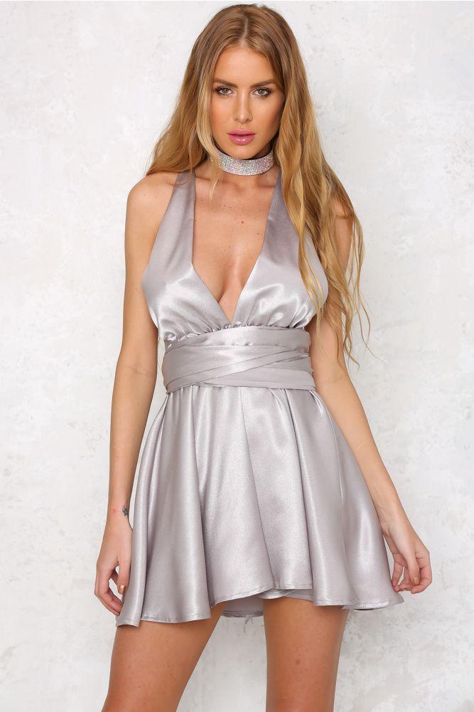 Sparkle Sparkle Dress Silver