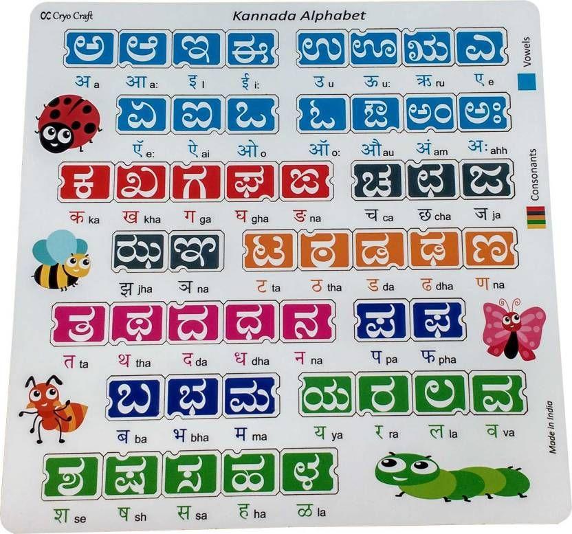 Correct Kannada Alphabets For Kids Chart List Of Alphabet Activities Alphabet For Kids Alphabet Activities Charts For Kids