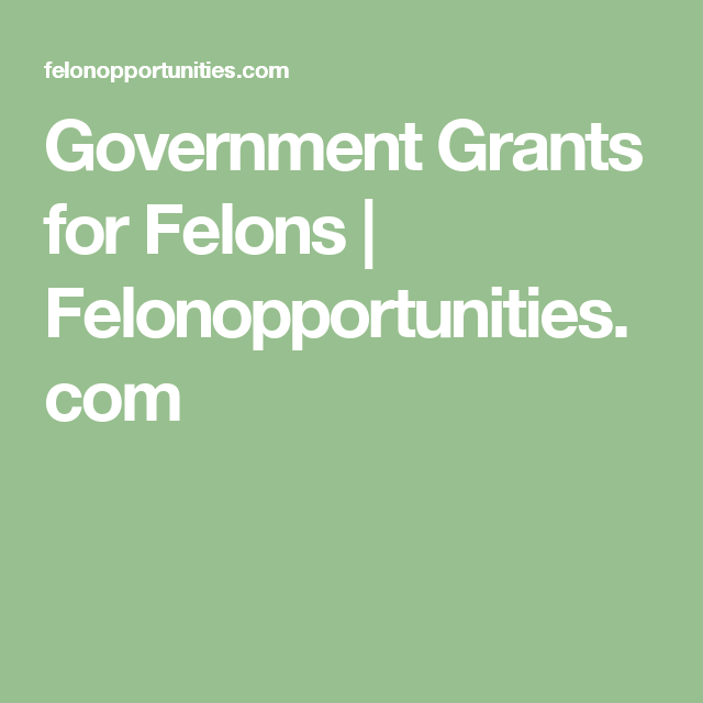 Government Grants for Felons | Felonopportunities com | 4C