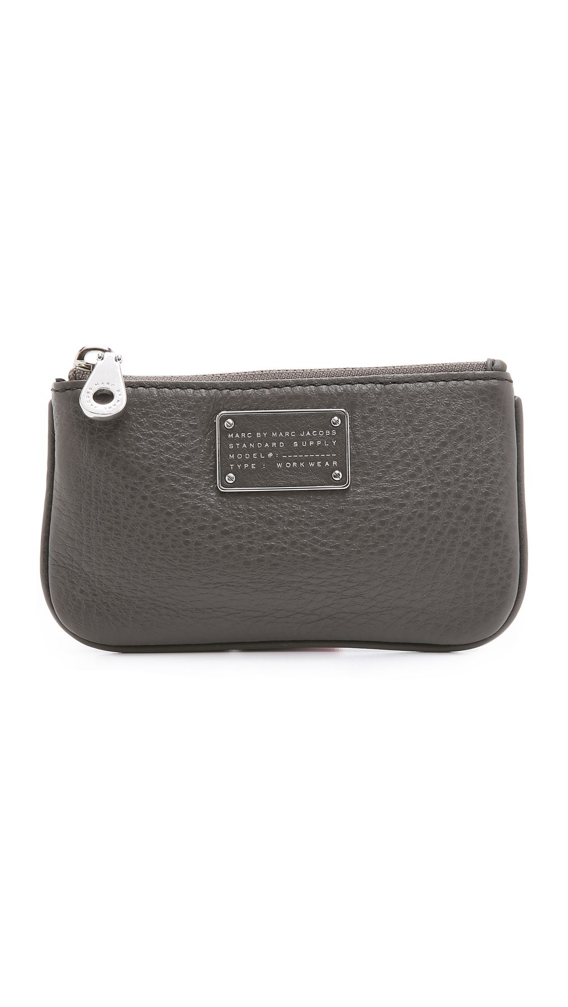 258ae49e2156 Marc By Marc Jacobs New Too Hot To Handle Key Pouch - Faded Aluminum ...