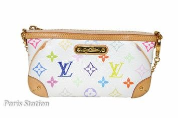 69c1d1bef47 Get the trendiest Clutch of the season! The Louis Vuitton Multicolor Milla  Mm Pouch White Clutch is a top 10 member favorite on Tradesy.