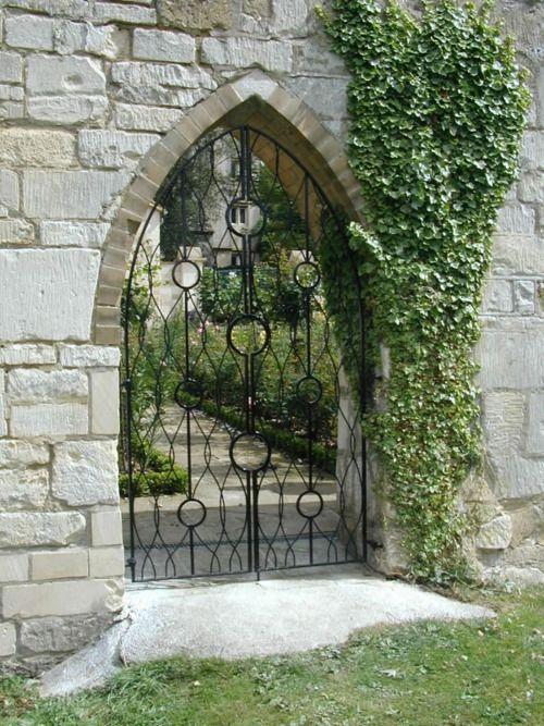 Gothic Wrought Iron Amazing Gates Outdoor Gate Garden Gates