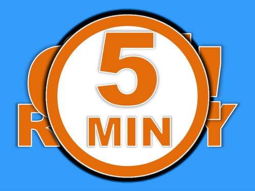 5 minute timer powerpoint technology 5 minute timer