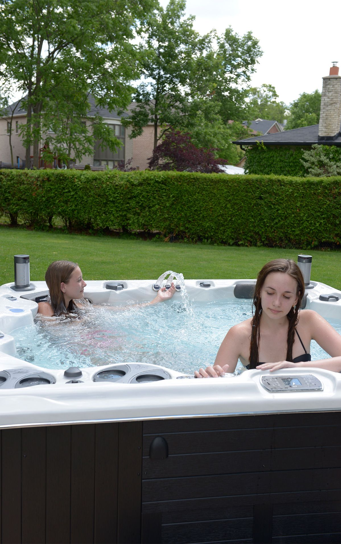 717b7f2c909 Hydropool hot tubs are completely customizable. Not only are you able to  change colours, you are also able to add options like stereos, waterfall  pillow, ...