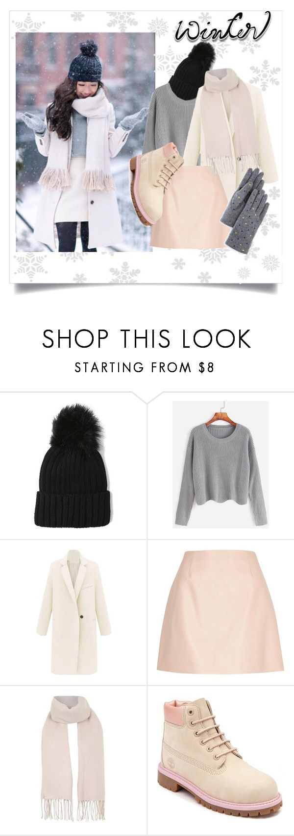"""""""Winter Essencials"""" by keepfashion92 ❤ liked on Polyvore featuring WithChic, River Island, Topshop, Timberland, Echo, GetTheLook, lowcost and extrapetite"""