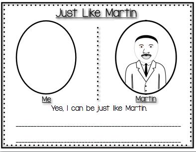 Just Like Martin {Martin Luther King Jr. Day} Kindergarten