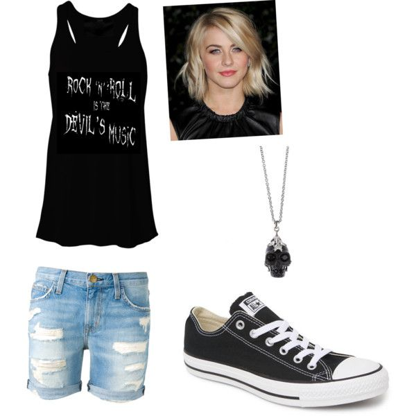 Rock n' Roll by jazzyboo-395 on Polyvore featuring polyvore, fashion, style, Current/Elliott, Converse and Alexander McQueen