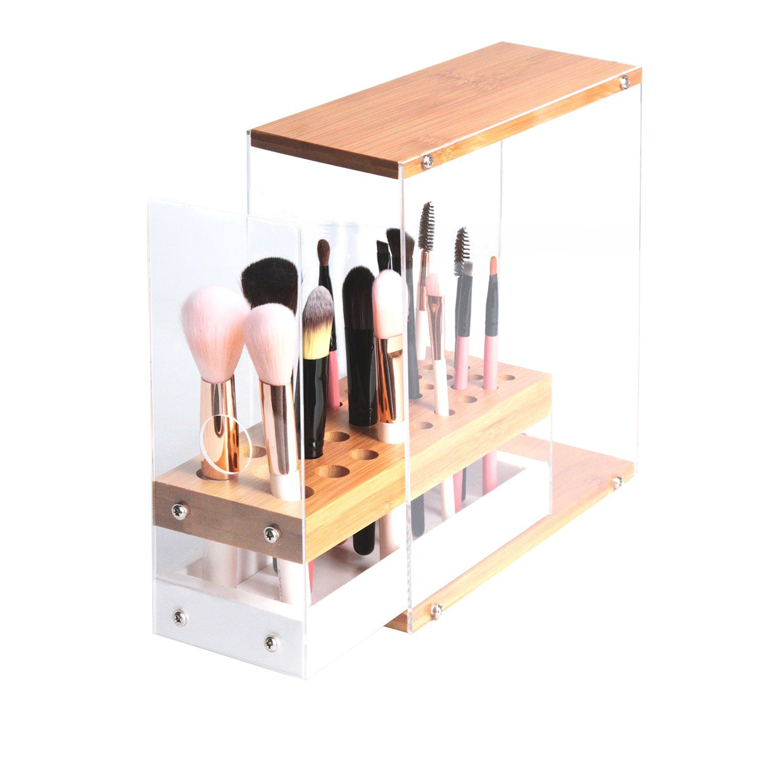 JackCubeDesign 31 Holes Acrylic Bamboo Brush Holder